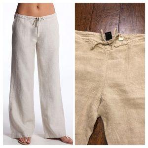 Gap 100% linen drawstring pants